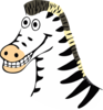 Cartoon Zebra Clip Art