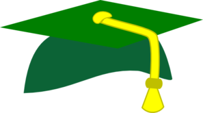 green graduation cap clip art at clker com vector clip art rh clker com Florida Gators free cap and gown clipart