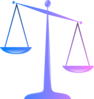 Scales Of Justice (glossy) Clip Art