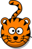 Tiger Head No Body Clip Art