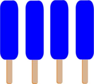 4 Dark Blue Single Popsicle Clip Art