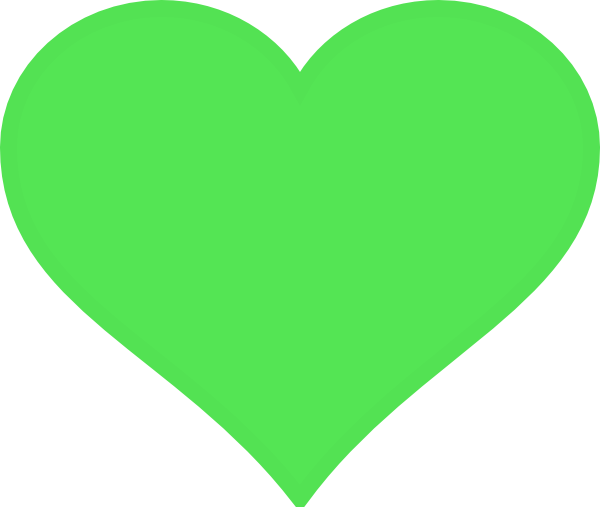 Green Heart Clip Art at Clker.com - vector clip art online, royalty ...
