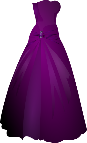 Purple Gown Clip Art at Clker.com - vector clip art online, royalty ...