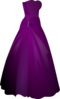 Purple Gown Clip Art
