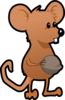 Mouse With A Nut Clip Art