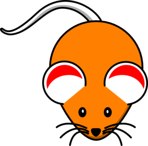 Orange Mouse Red Ears Clip Art