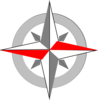 Red Grey Compass Final 5 Clip Art