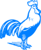Blue Rooster Clip Art