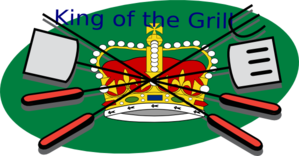King Of The Grill Clip Art