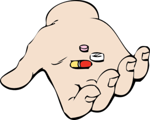 Hand And Pills Clip Art