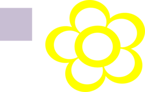 Daisy Flower Outline Flat Icon Sticker - Flower Outline Png Icon Clipart  (#5581095) - PinClipart