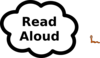 Read Aloud Sign Clip Art