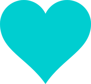 Teal Heart Clip Art Turquoise Teal Heart C...