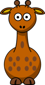 Brown Giraffe With 11 Dots- Fixed Nose Clip Art