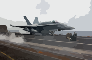 An F/a-18 Hornet Strike Fighter Assigned To The  Valions  Of Strike Fighter Squadron Fifteen (vfa-15) Prepares For Launch Clip Art