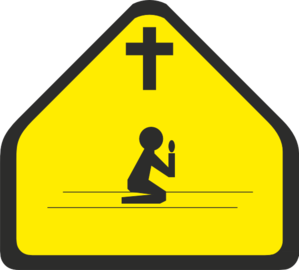 Prayer Zone Sign Clip Art