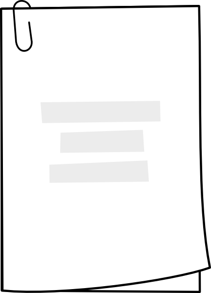 clipart of documents - photo #22