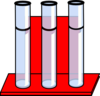 Test Tubes In Red Stand Clip Art