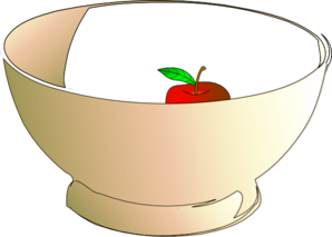 Bowl 1 Apple Clip Art