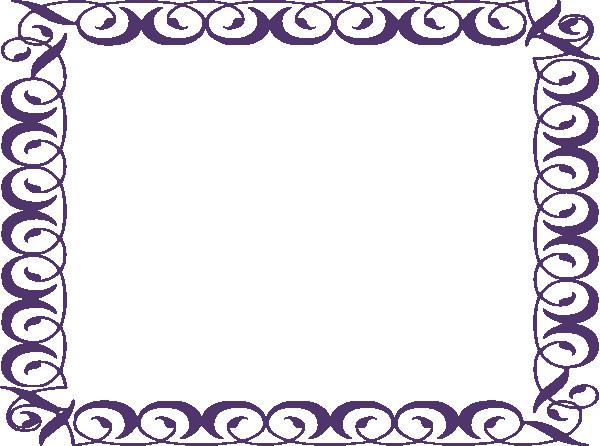 Purple Frame Clip Art at Clker.com - vector clip art online, royalty ...