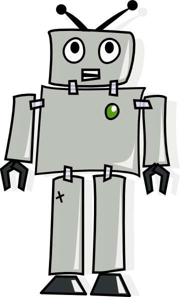 animated robot clipart - photo #9
