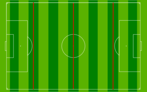 Football Pitch Divided 3 Clip Art