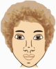 Short Curly Haired Female Clip Art