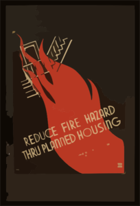 Reduced Fire Hazard Thru Planned Housing Clip Art