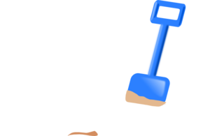 Spade In The Sand Clip Art
