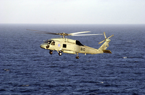 Sh-60 Seahawk Provides Plane Guard Support. Image