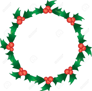 Holly Garland Clipart Free Image