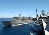 Usns Arctic (t-aoe 8), Steams Alongside Uss Theodore Roosevelt During An Underway Replenishment (unrep) Image