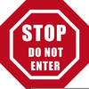 Clipart Do Not Enter Sign Image