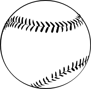 Baseball (b And W) Clip Art