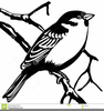 Sparrow Tattoo Clipart Image