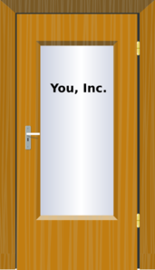Office Door - You, Inc. Clip Art