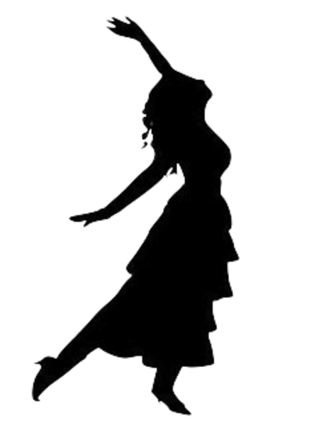 dancing girl silhouette -#main