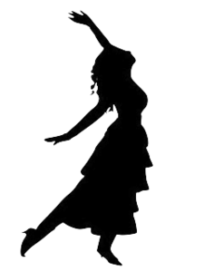 dancing girl silhouette free images at clker com vector clip art rh clker com