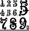 Ornate Numbers Clipart Image