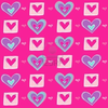 Purple Blue And Pink Hearts Image