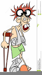 Man With Broken Arm Clipart Image