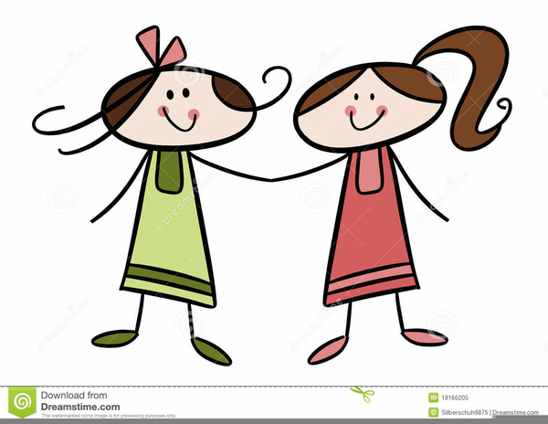 two sisters clipart free images at clker com vector clip art rh clker com sister clip art calligraphy sisters clipart