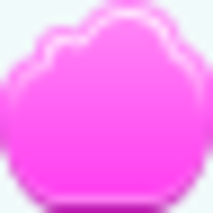 Free Pink Cloud Empty Button Image