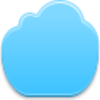 Blue Cloud Icon Image