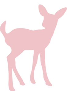 Pink Fawn Image Clip Art