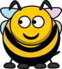 Bee Looking Left Clip Art