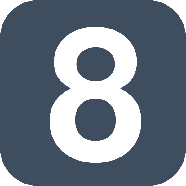 Number 2 Grey Flat Icon 8 Clip Art At Clker Com