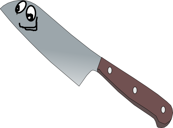 Kitchen Knife Clip Art ~ Knifee clip art at clker vector online