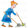 Woman Sweeping Clipart Image