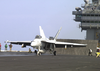 Super Hornet Prepares For Launch From The Flight Deck Of Uss Lincoln Image